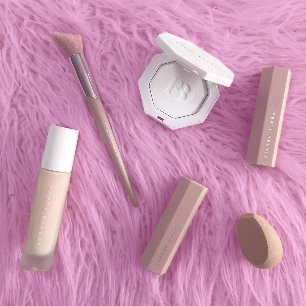 Best Fenty Beauty products for fair skin. Los Angeles Cruelty-Free Beauty Blogger, Emily Wolf Beauty shares an in-depth look and review of the Fenty Beauty collection for fair skin.