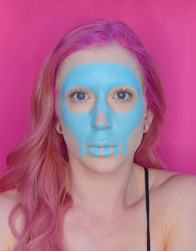 skull halloween makeup tutorial with wet n wild paint palette