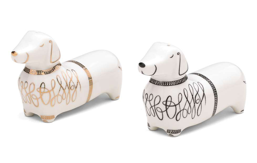 kate spade dachshund salt and pepper shakers